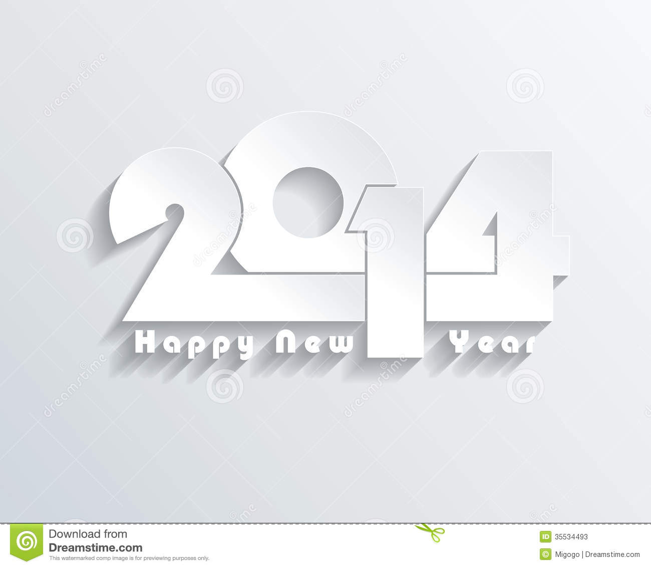 Happy New Year 2014 Greeting Card Stock Illustration Illustration