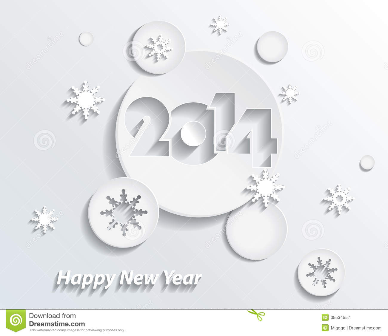 happy new year 2014 creative greeting card