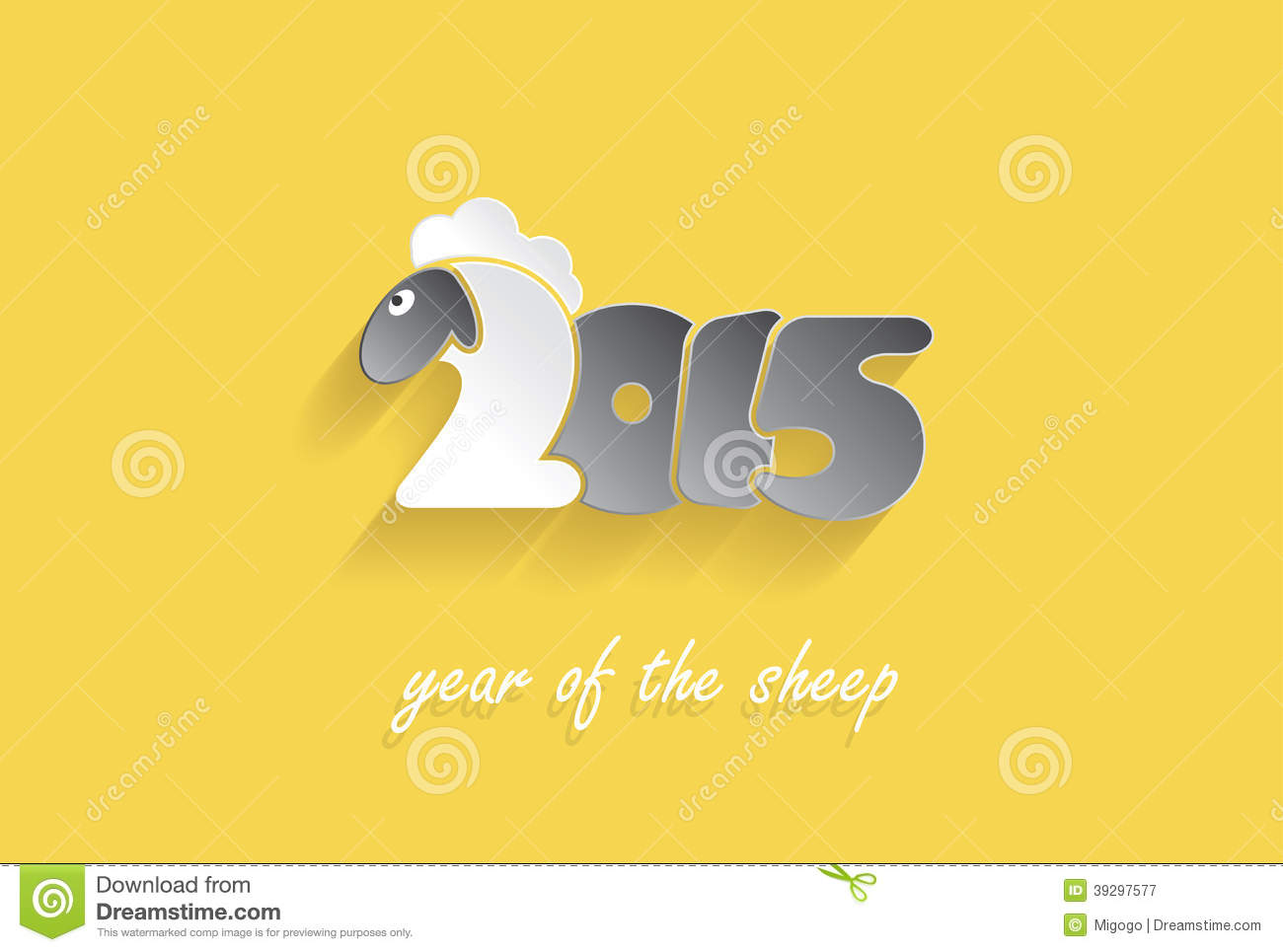 Happy new year 2015 creative greeting card stock illustration happy new year 2015 creative greeting card lamb light kristyandbryce Choice Image