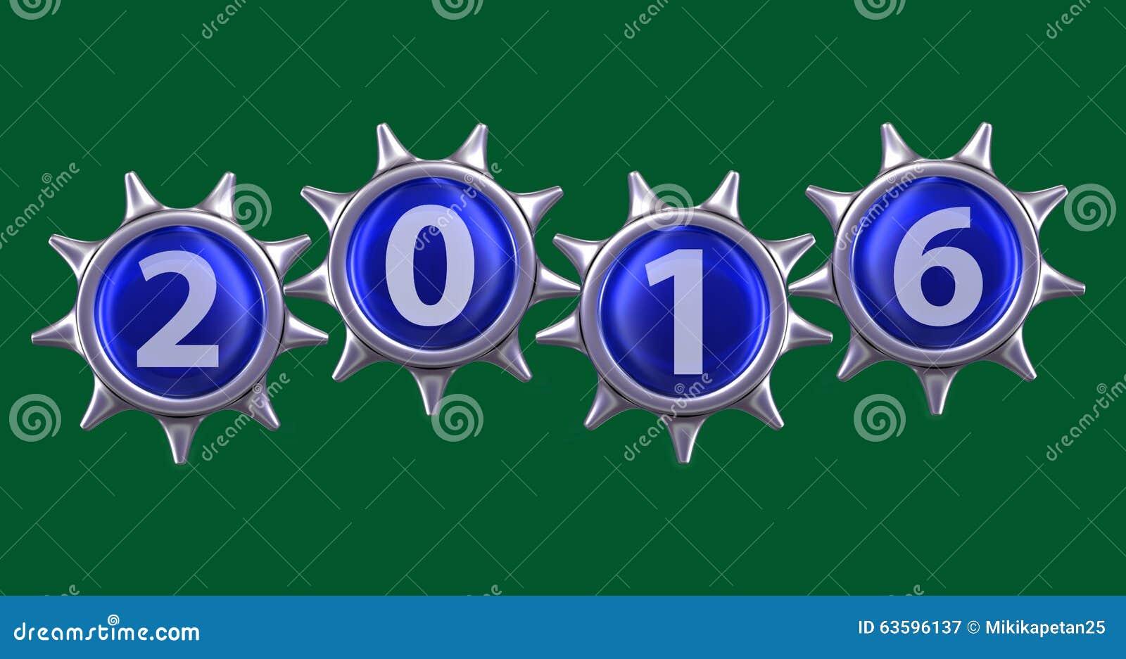 2016 Happy New Year Stock Illustration - Image: 63596137