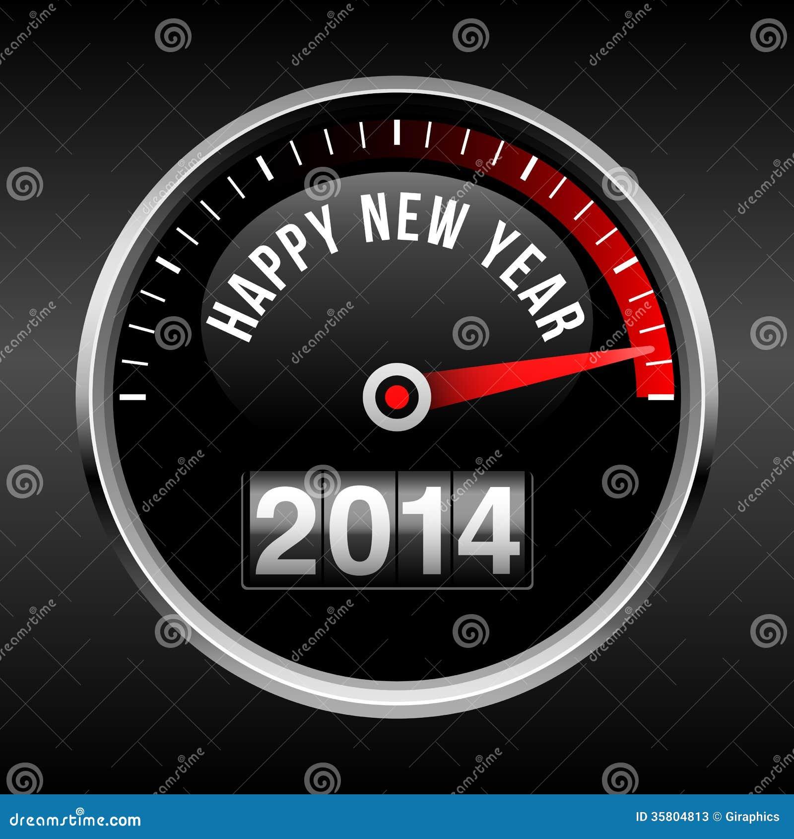 Happy New Year 2014 Dashboard Background