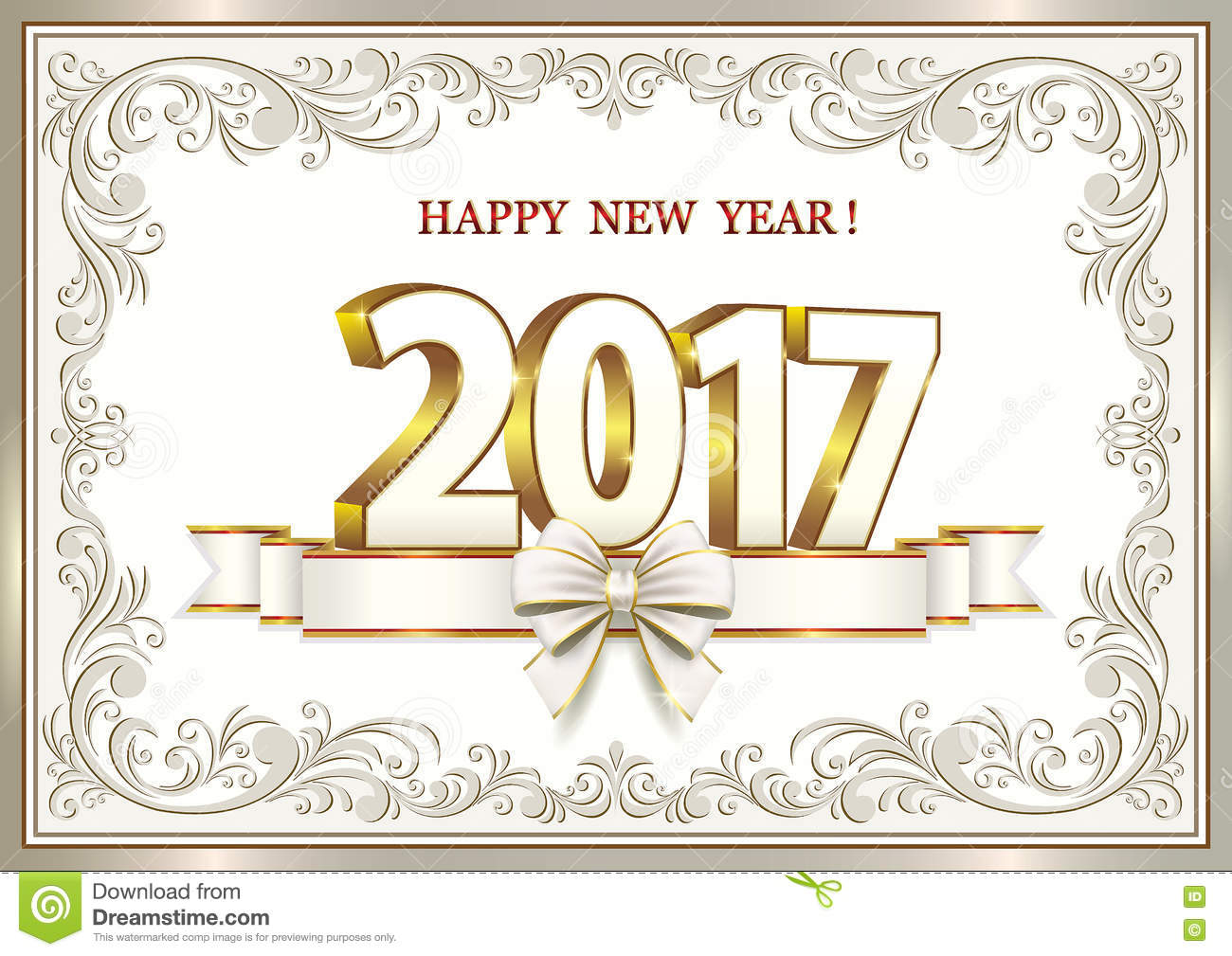 Elegant Download Happy New Year 2017 Stock Vector. Illustration Of Frame   72552343