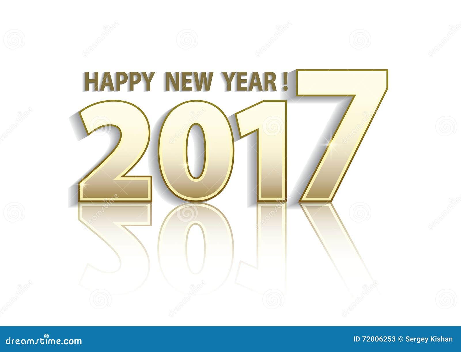 Happy New Year 2017 Cartoon Vector   CartoonDealer.com #72006253