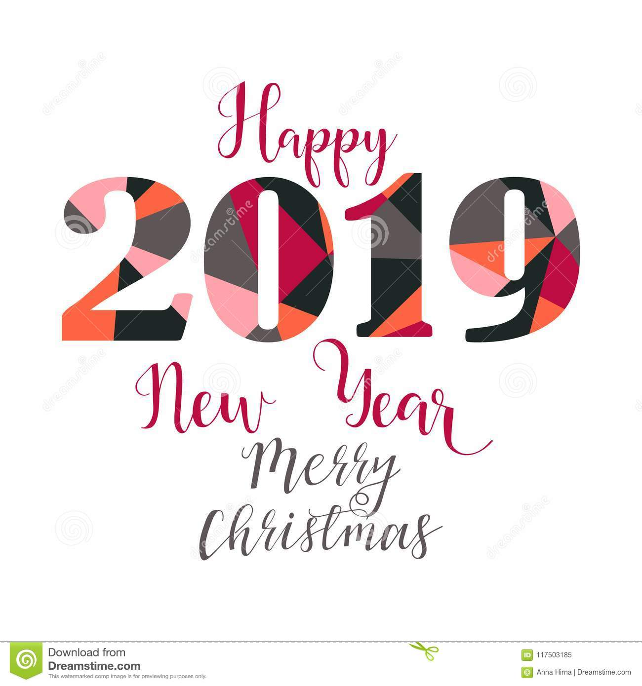 Merry christmas and happy new year 2019 gifts