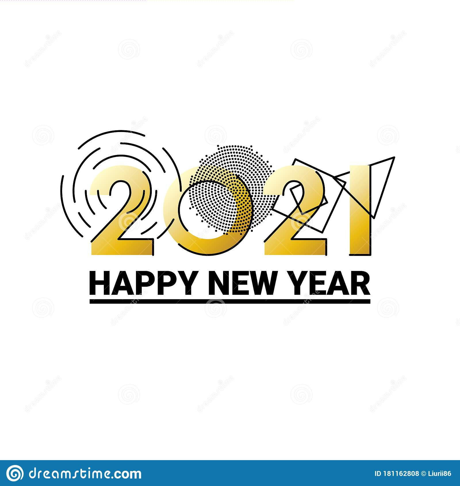 Happy New Year 2021 Design Template. Design For Calendar ...