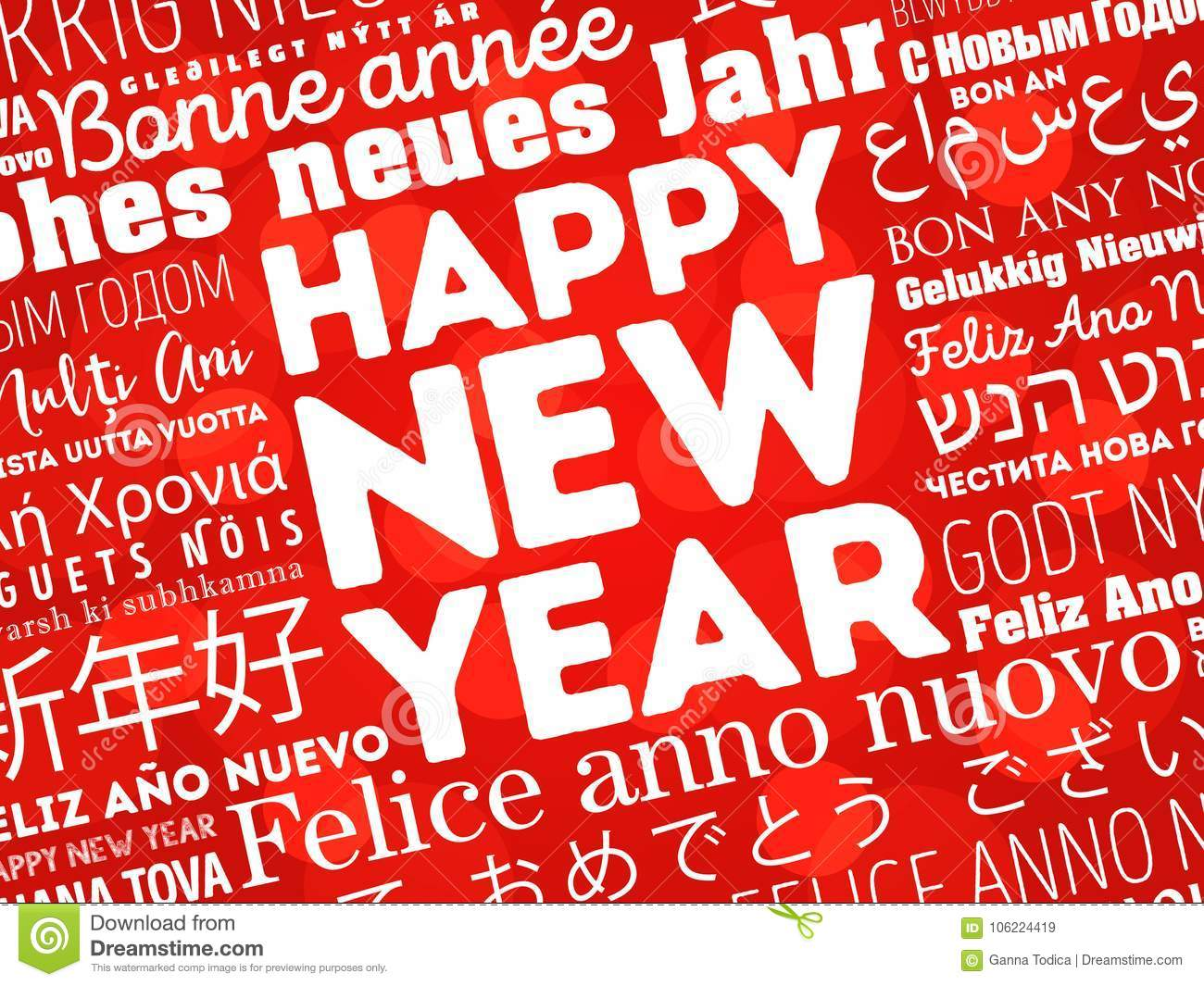 Happy new year in different languages stock illustration download happy new year in different languages stock illustration illustration of russian holiday m4hsunfo