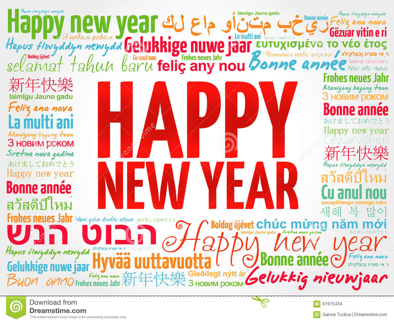 Happy new year in different languages greeting card stock photo download happy new year in different languages greeting card stock photo image of design m4hsunfo