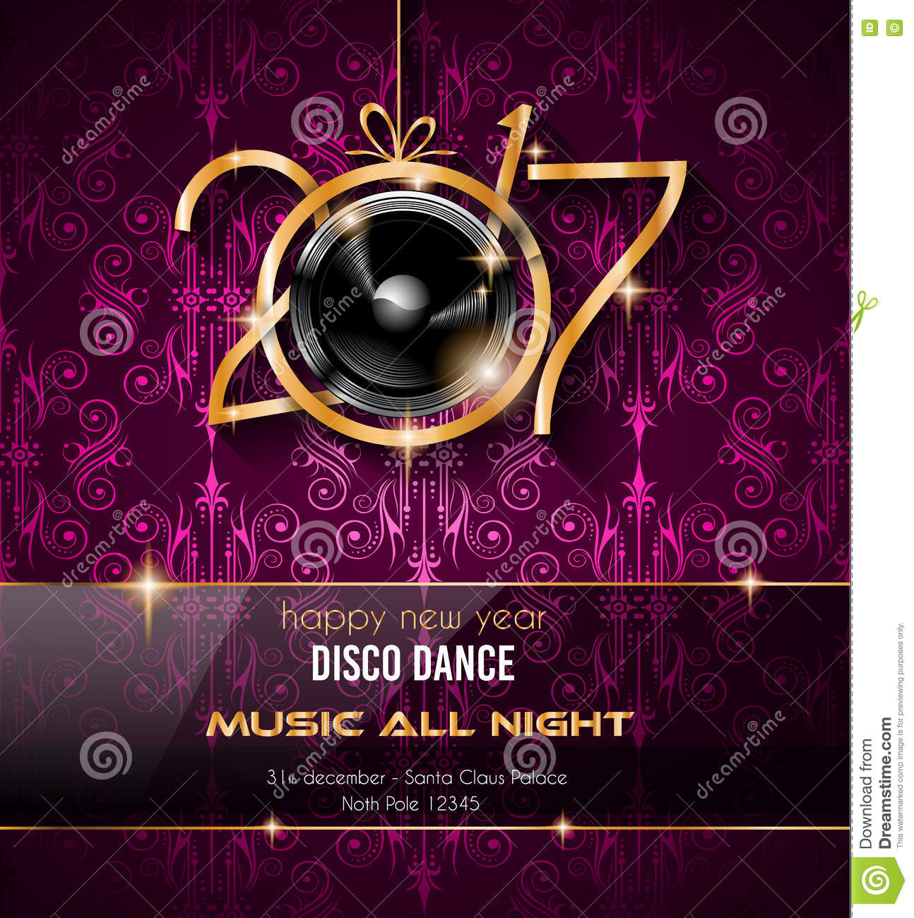 download 2017 happy new year disco party background for your flyers stock illustration illustration of