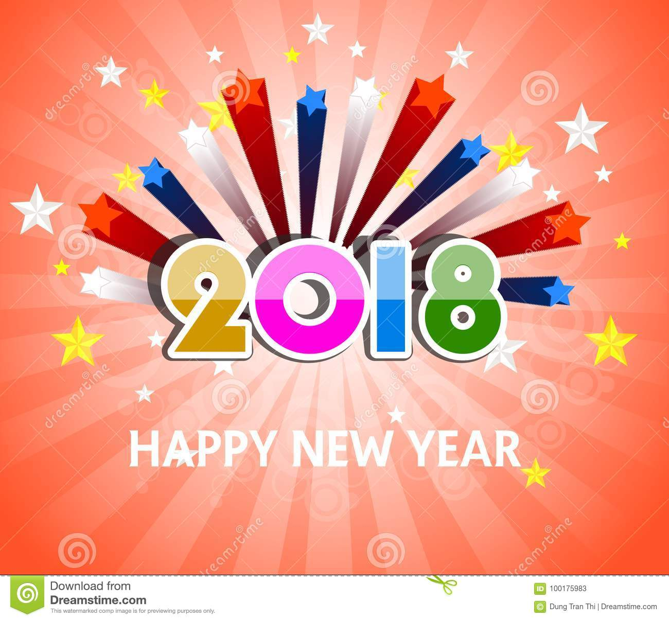 download happy new year 2018 with firework background stock vector illustration of holiday festival