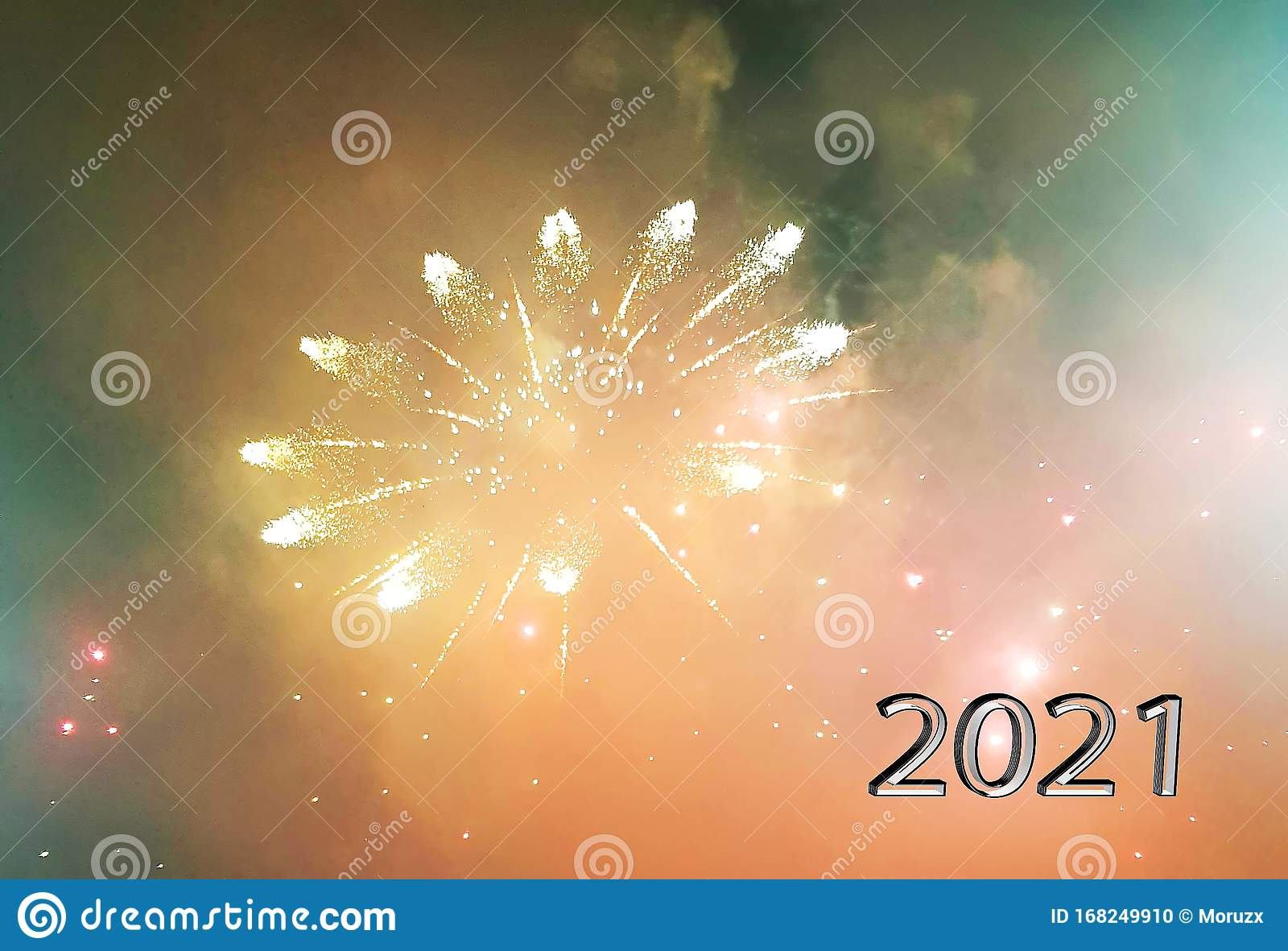 Happy New Year 2021 Fireworks Background Stock Illustration - Illustration of fireworks