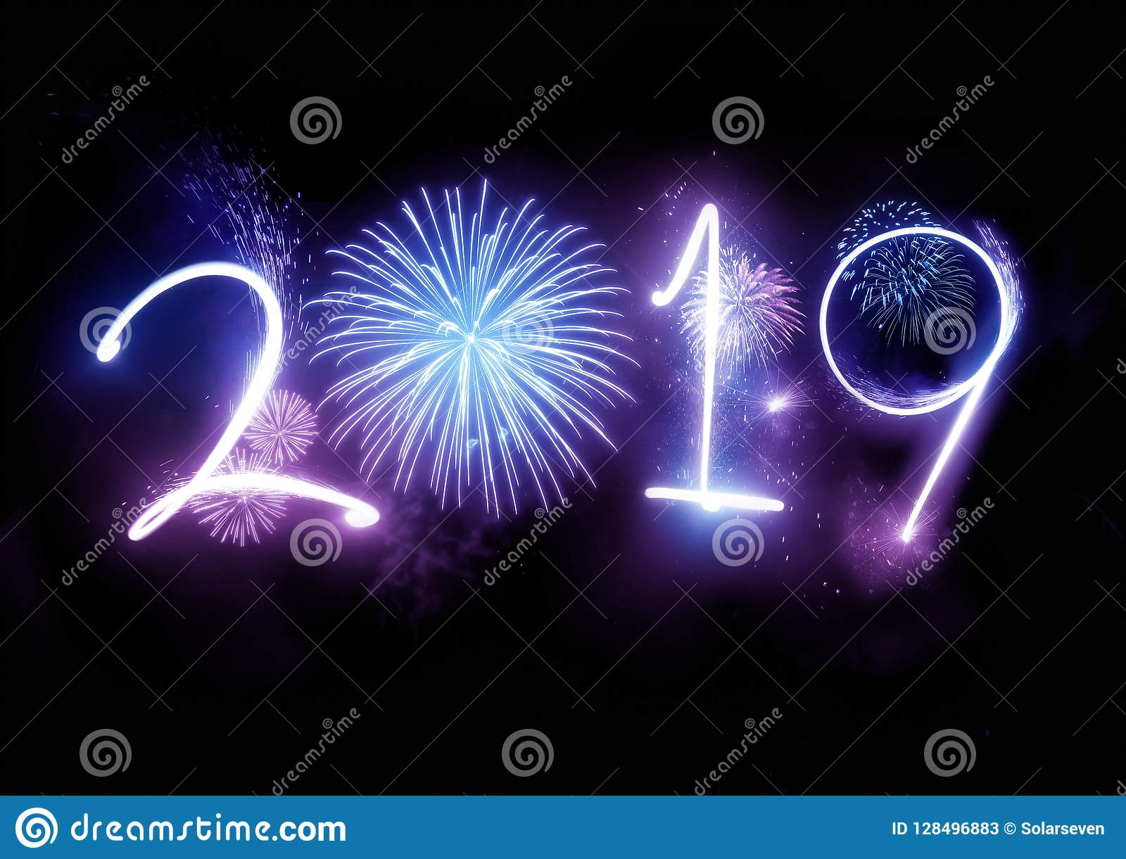 2019 Happy New Year Fireworks