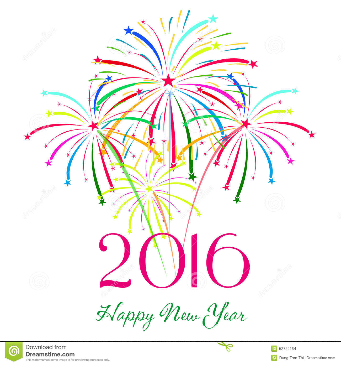 happy new year 2016 with fireworks holiday background