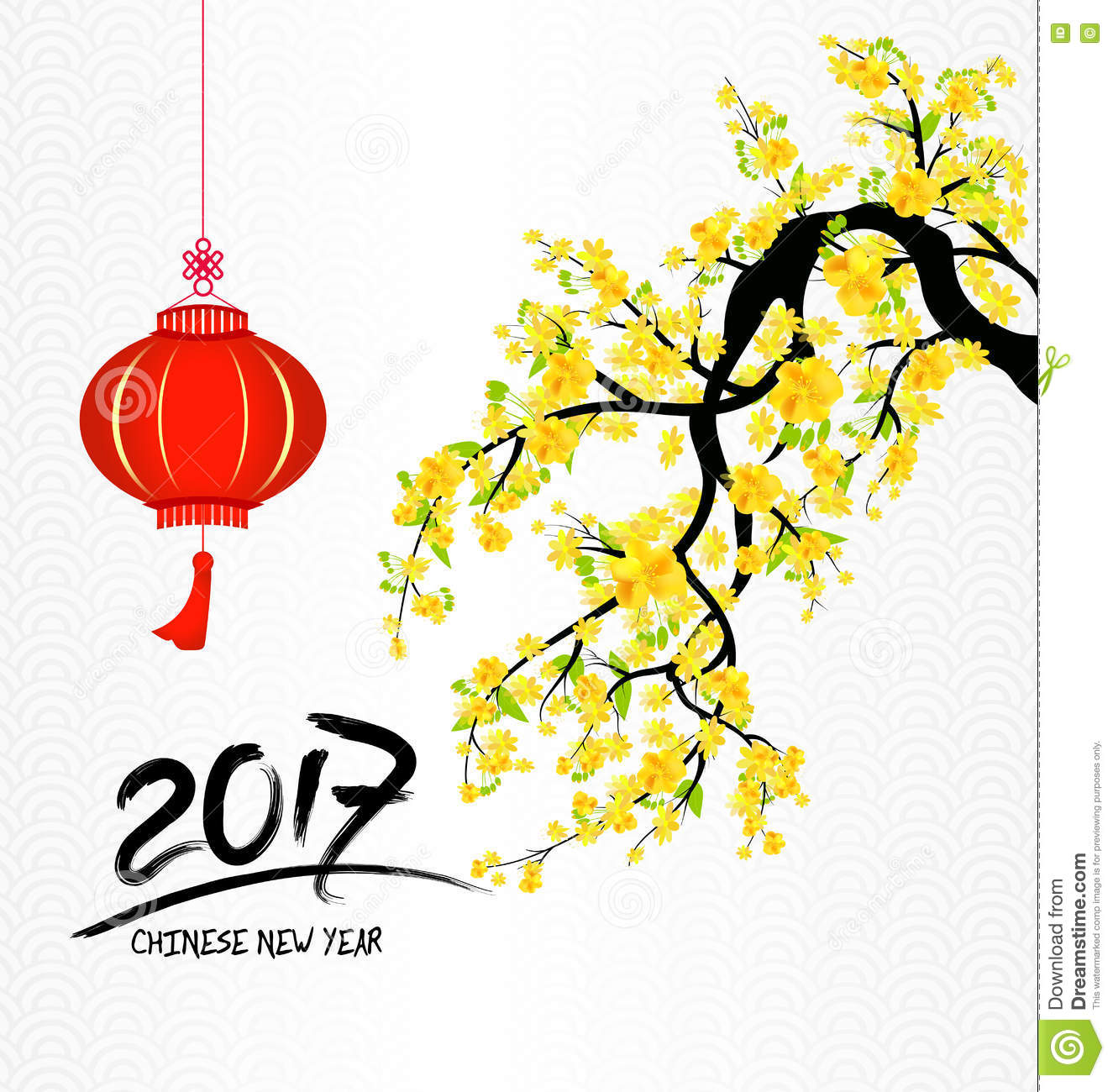 Happy New Year 2017 And Flowers Stock Vector - Illustration of ...