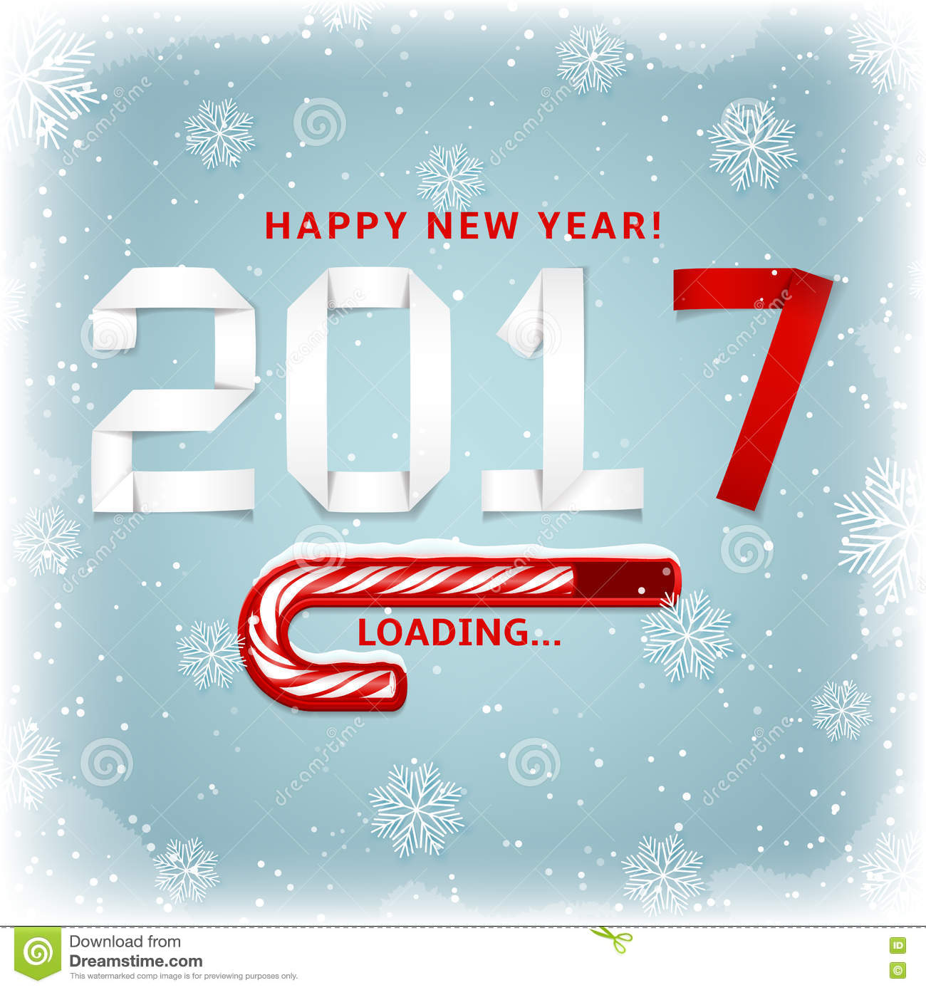 Happy New Year Gift Card Stock Vector Illustration Of Poster 79568637