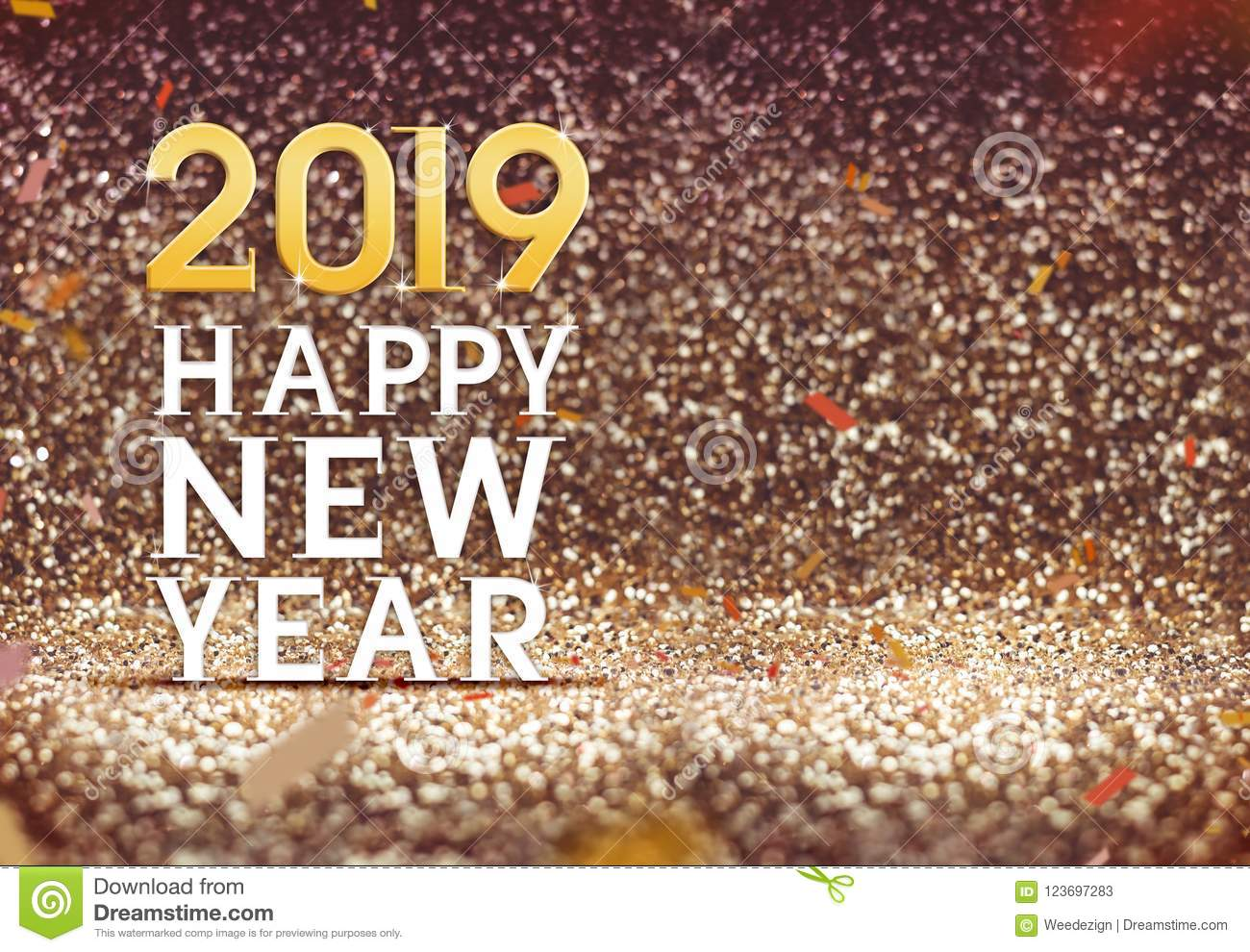 Happy new year 2019 in gold color abstract glitter background h stock image image of blur - New years colors 2019 ...