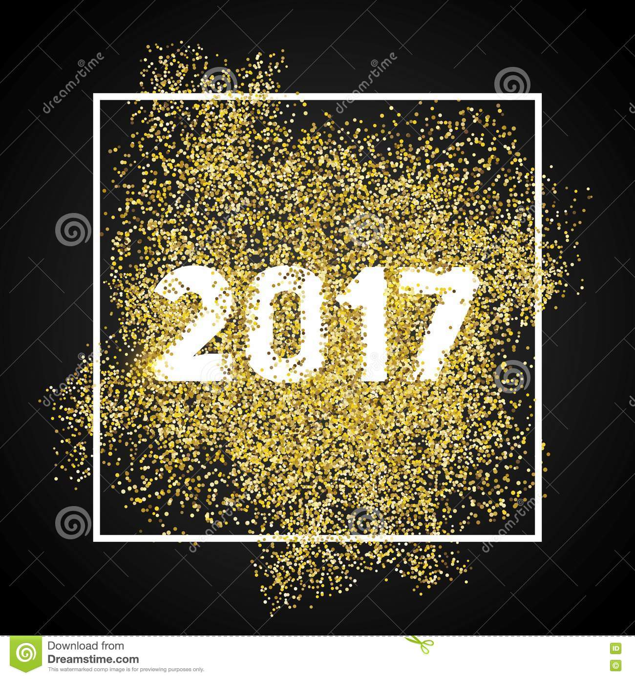 happy new year 2017 gold glitter new year gold background for
