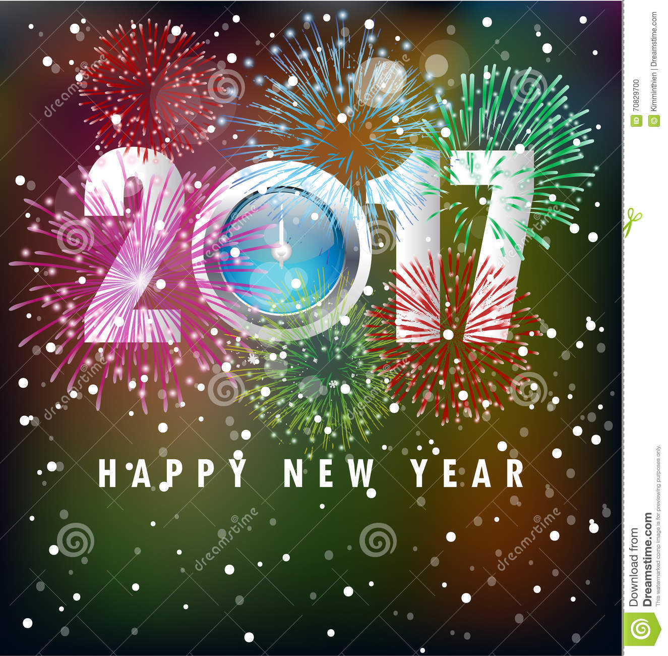 Happy new year greeting card 2017 stock illustration illustration happy new year greeting card 2017 astrological rectangle royalty free illustration m4hsunfo