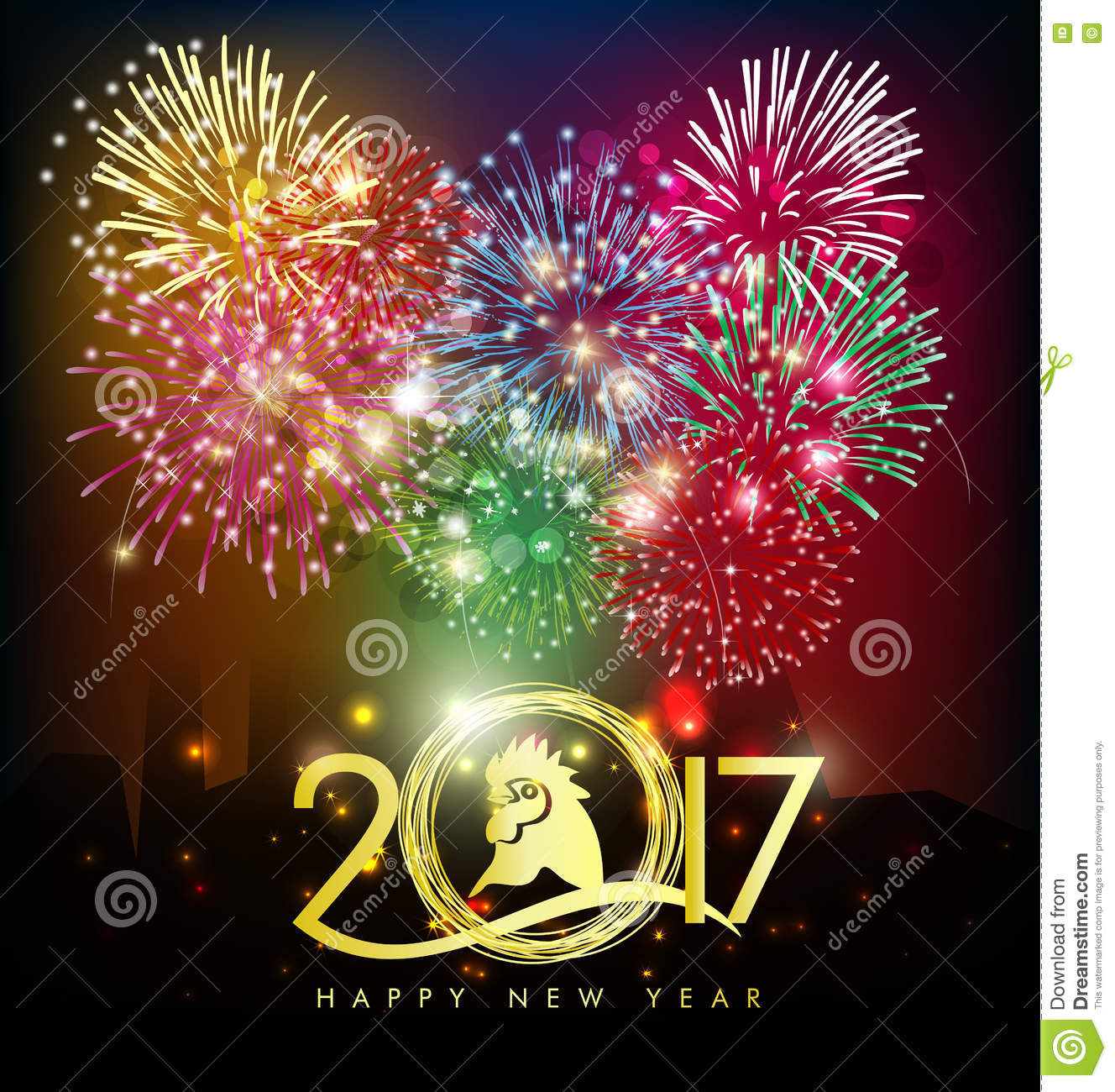 Happy new year greeting card 2017 stock photo image of decoration download happy new year greeting card 2017 stock photo image of decoration bird m4hsunfo