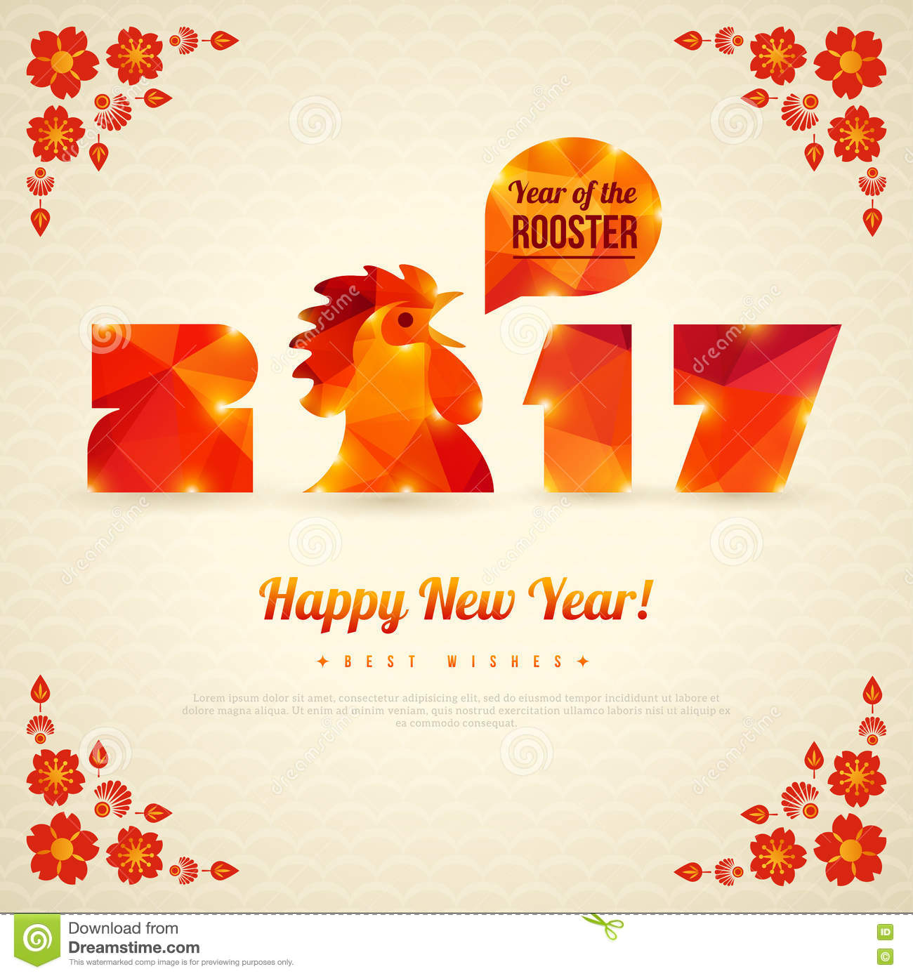 Happy New Year 2017 Greeting Card, Banner Design Stock Vector ...