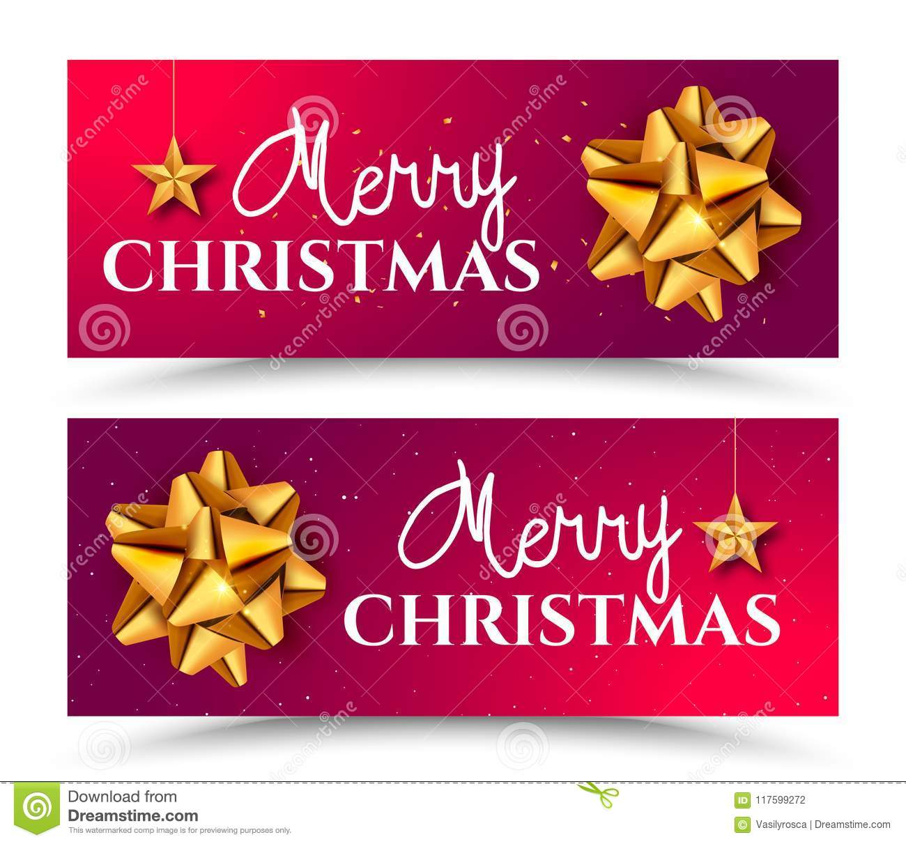 happy new year 2018 greeting card banner design template with golden bow