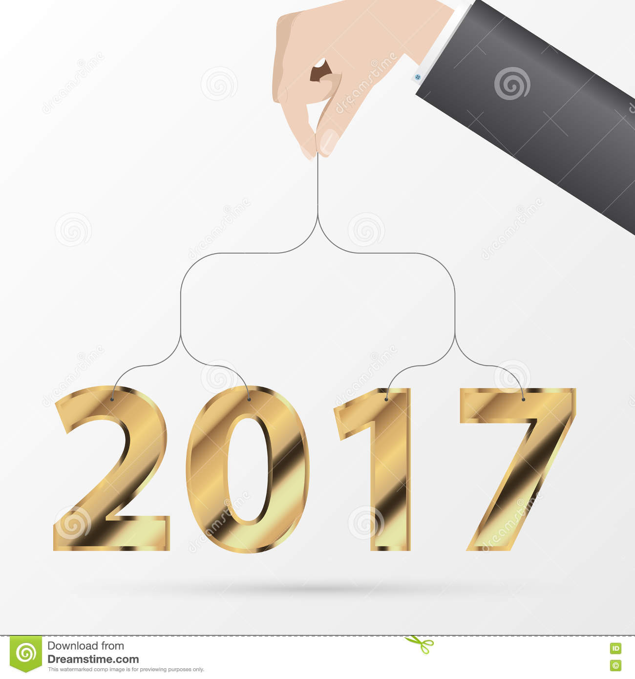 happy new year 2017 greeting card business style vector