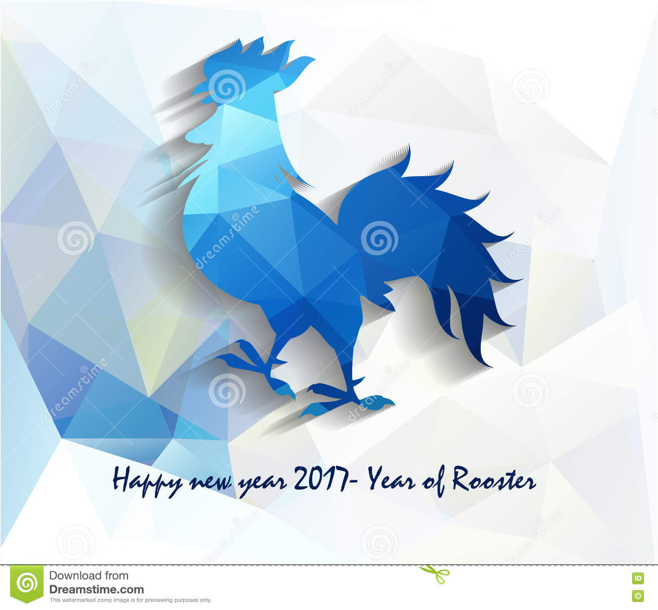 2017 Happy New Year Greeting Card Celebration Chinese New Year Of