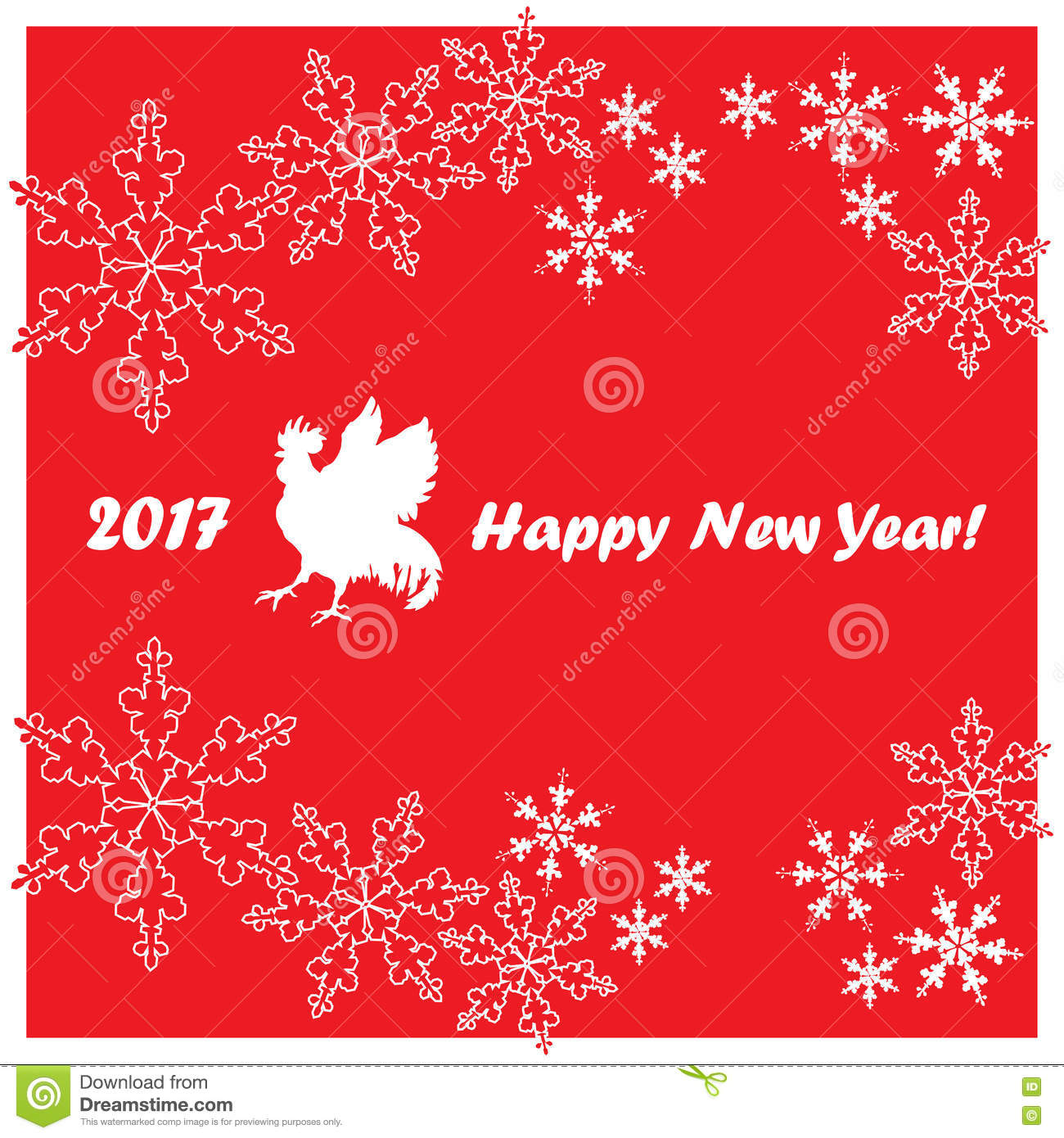New year 2017 greeting pictures year of rooster happy chinese new year - 2017 Happy New Year Greeting Card Chinese New Year Of The Red Rooster Royalty