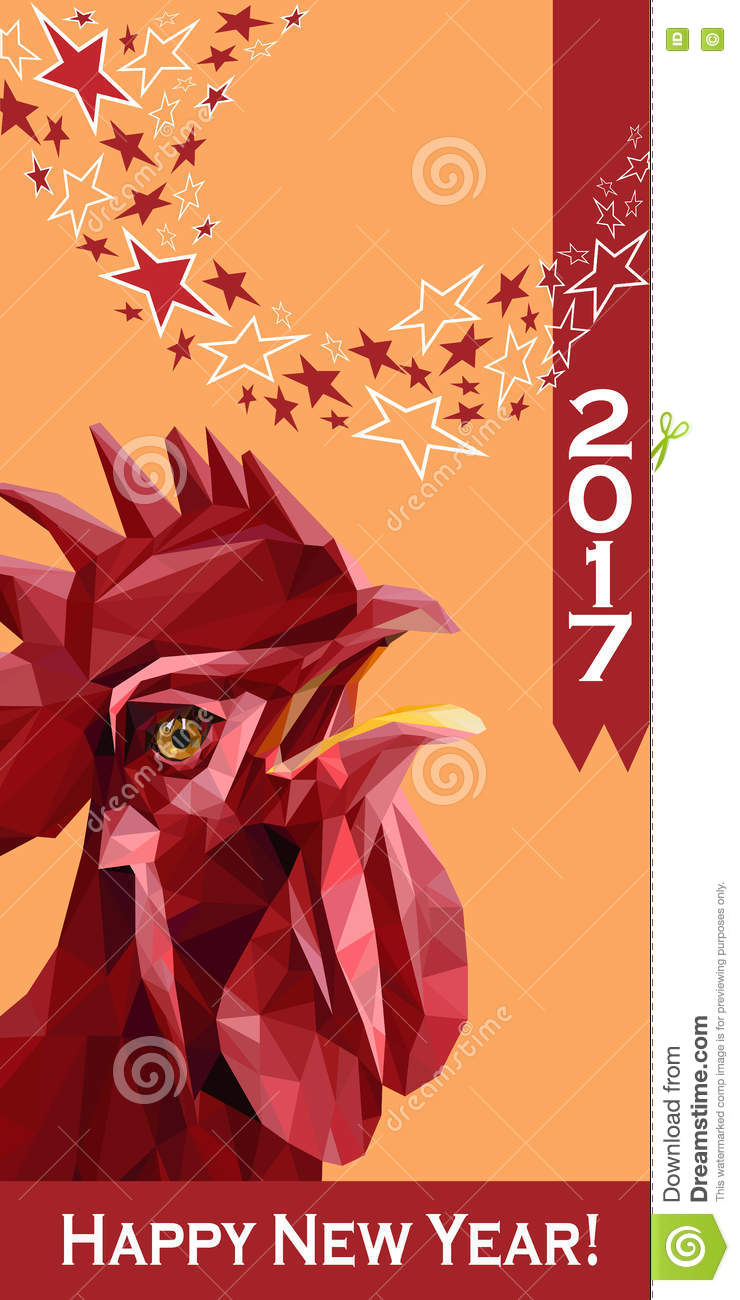 New year 2017 greeting pictures year of rooster happy chinese new year - 2017 Happy New Year Greeting Card Chinese New Year Of The Red Rooster Stock