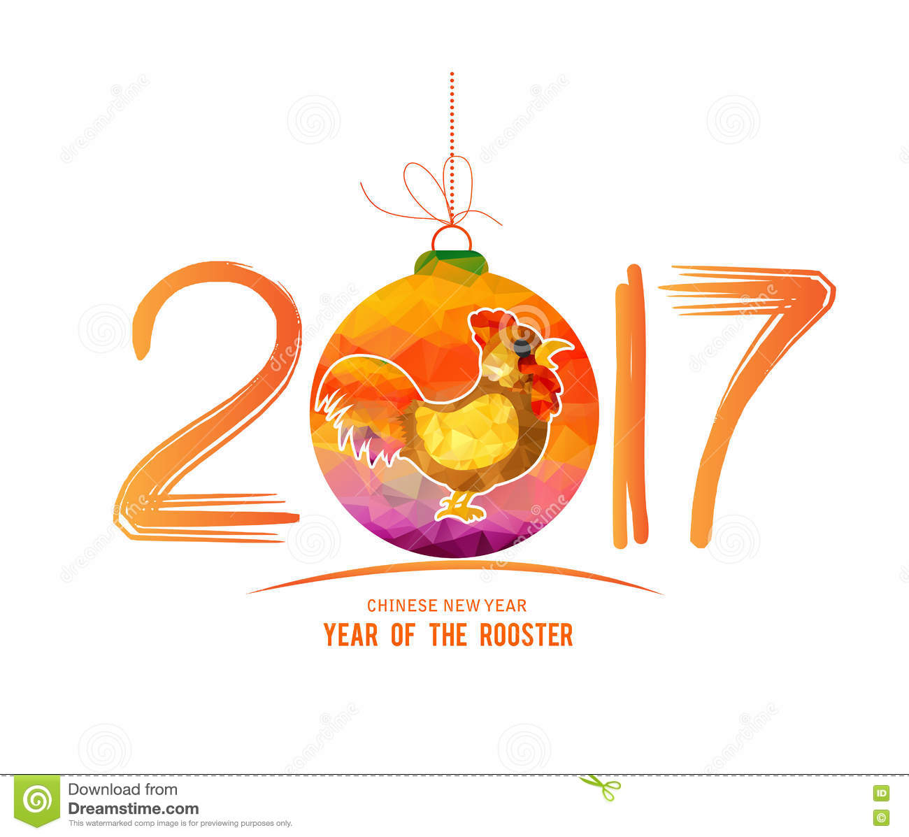 New year 2017 greeting pictures year of rooster happy chinese new year - 2017 Happy New Year Greeting Card Chinese New Year Of The Rooster Stock Illustration