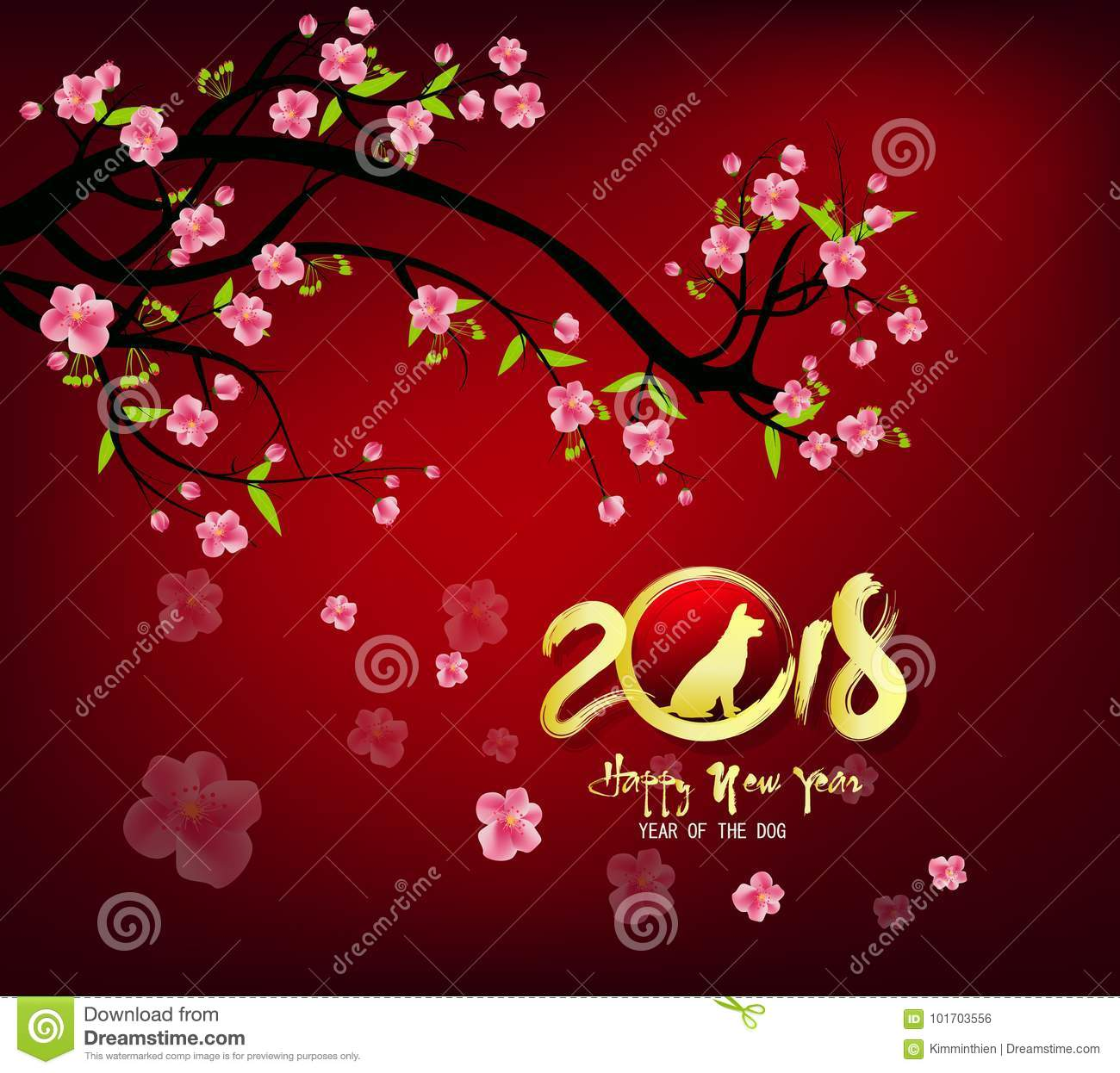 Happy new year 2018 greeting card chinese new year of ther dog royalty free vector download happy new year 2018 greeting card chinese new year of ther dog stock vector m4hsunfo