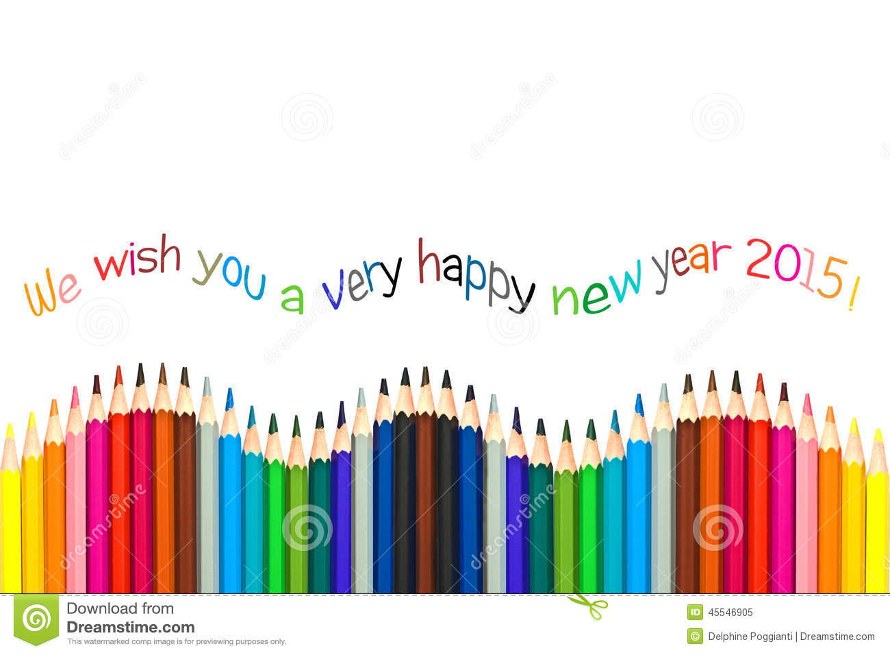 Happy new year 2015 greeting card colorful pencils stock image happy new year 2015 greeting card colorful pencils kristyandbryce Choice Image