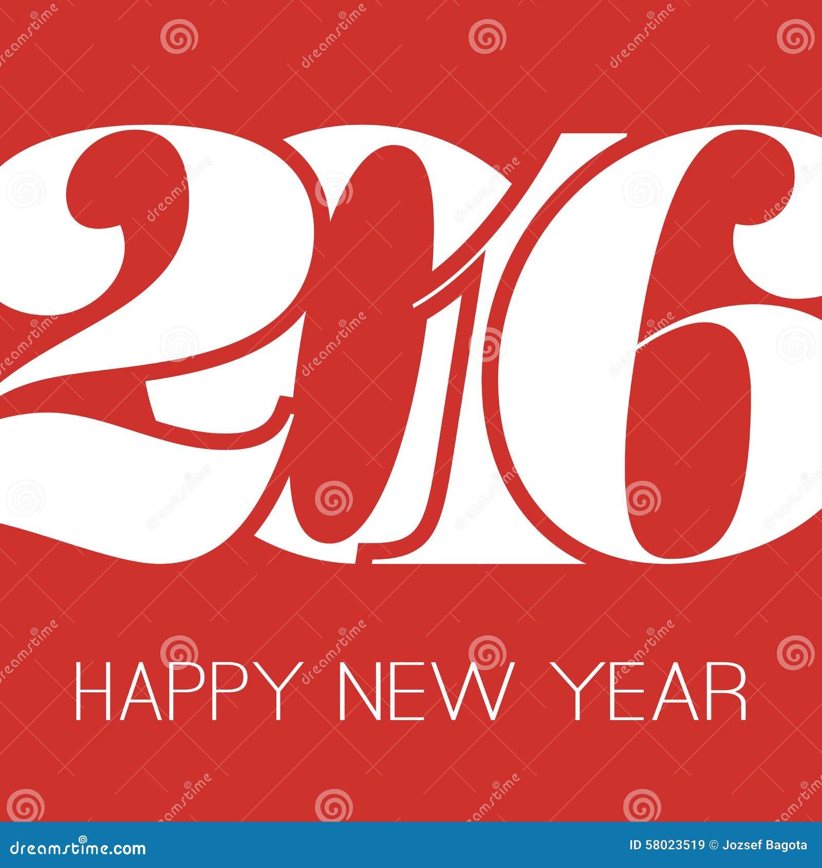 Happy new year greeting card creative design template 2016 stock download happy new year greeting card creative design template 2016 stock vector illustration m4hsunfo