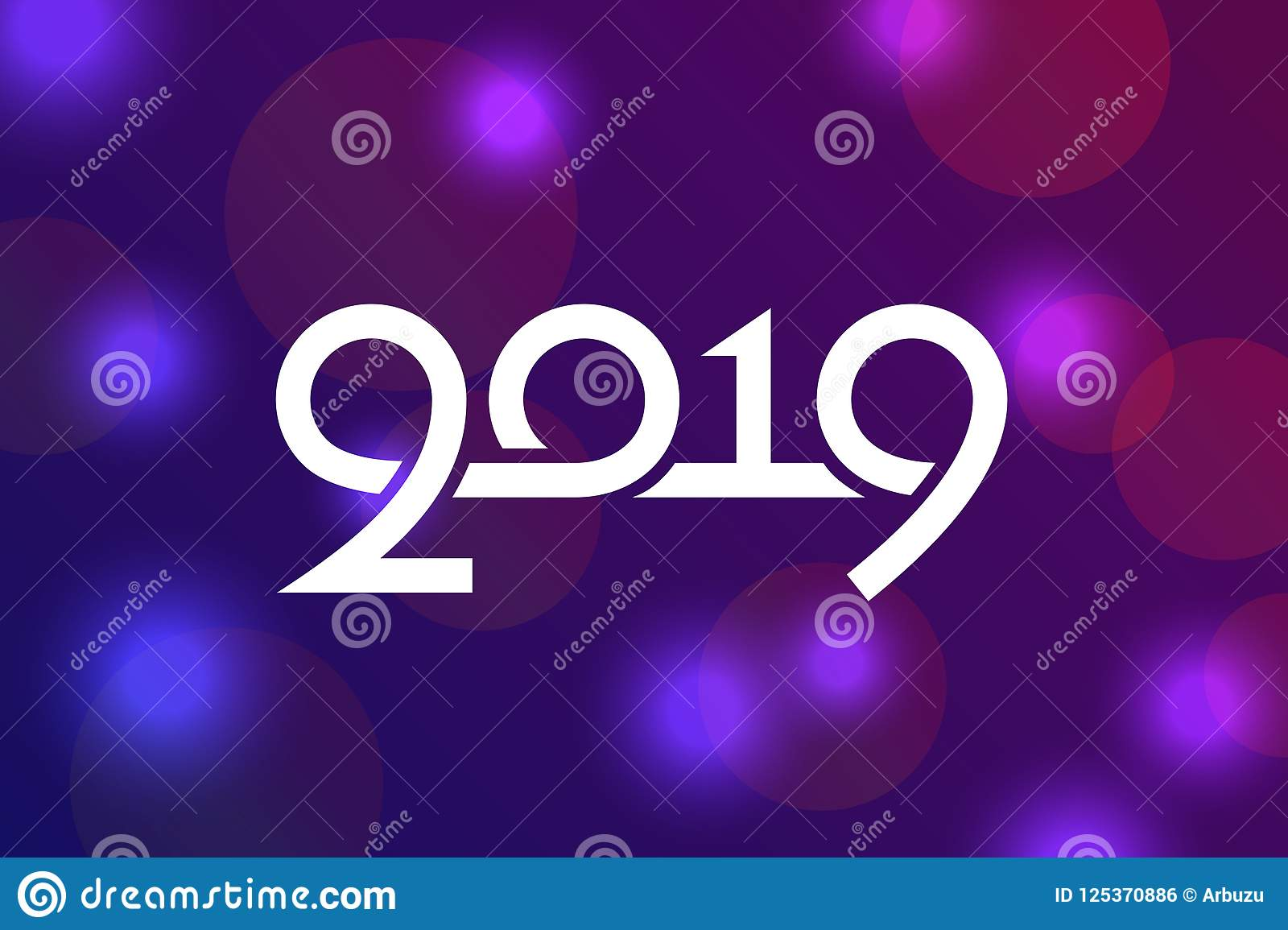 Happy New Year 2019 Greeting Card Design Stock Vector ...