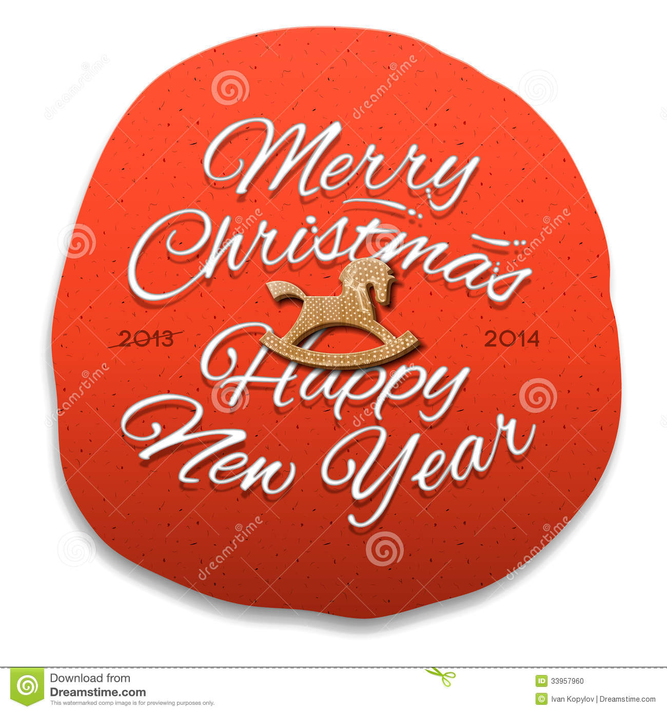 Happy new year 2014 greeting card stock illustration illustration download comp m4hsunfo
