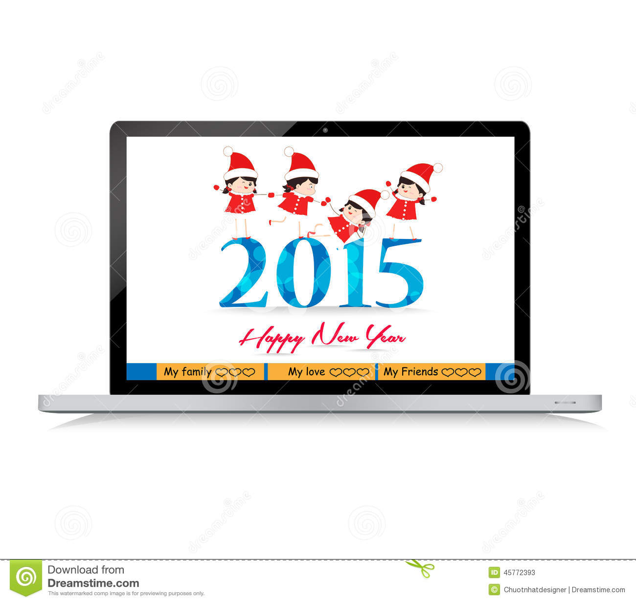 Happy New Year Background And Greeting Card Design