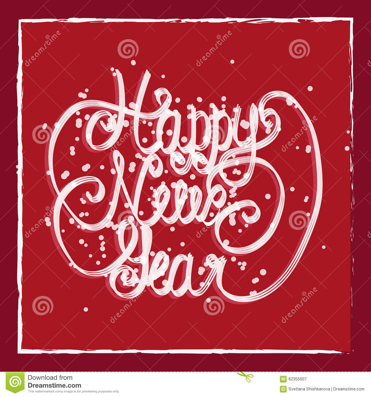happy new year greeting card hand lettering handmade calligraphy