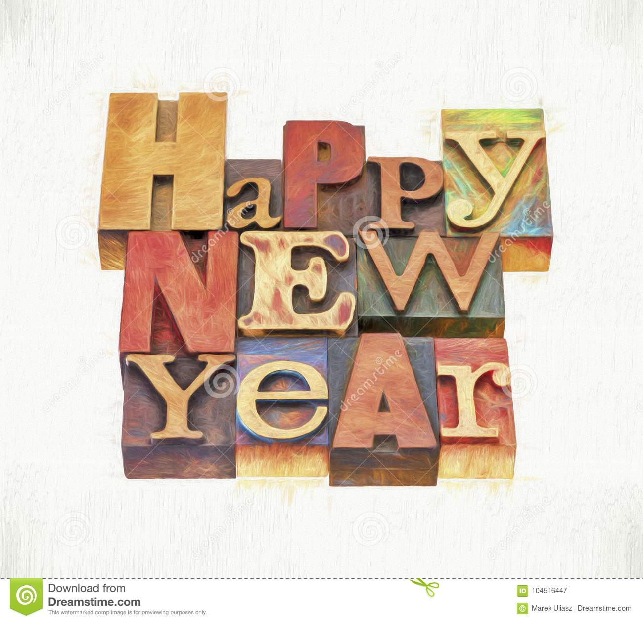 Happy New Year Greeting Card Stock Image - Image of ...