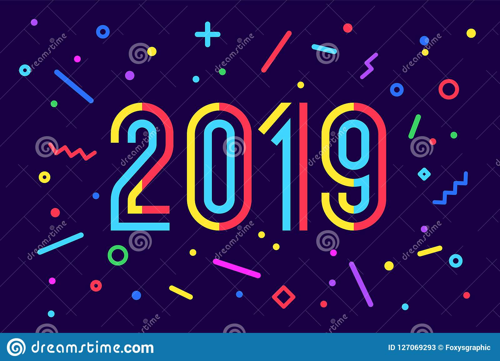 2019 happy new year greeting card happy new year 2019