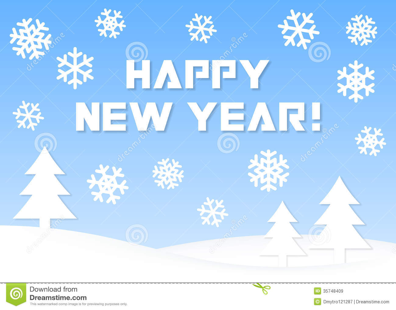 Happy New Year Greeting Card Stock Vector Illustration Of Merry