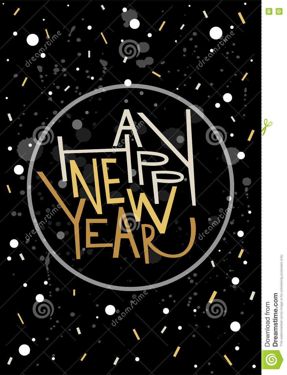 download happy new year greeting card print poster winter decoration stock illustration