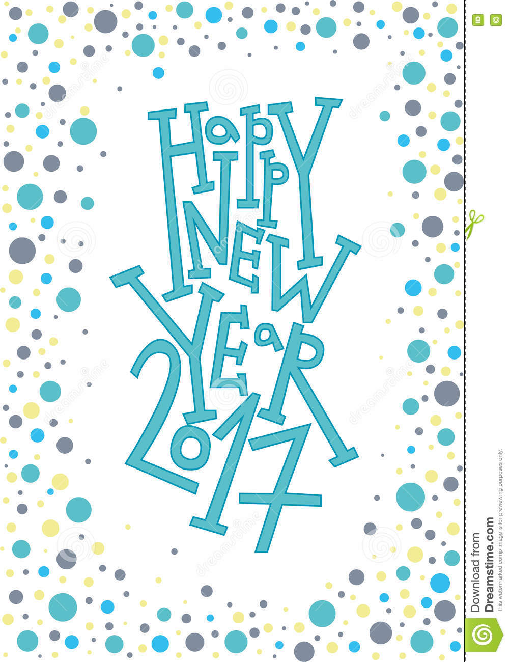 happy new year greeting card print winter decoration photo overlay invitation