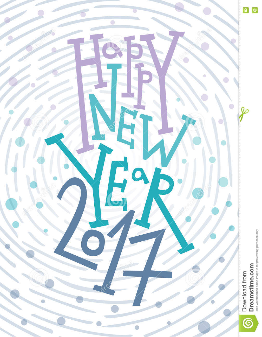 Happy New Year Greeting Card, Print, Winter Decoration ...