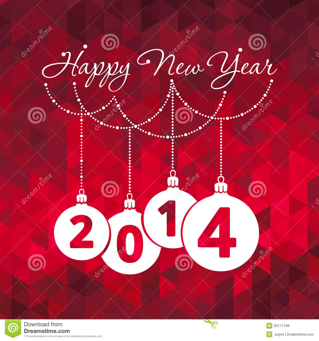 Happy New Year Greeting Card Stock Vector Illustration Of