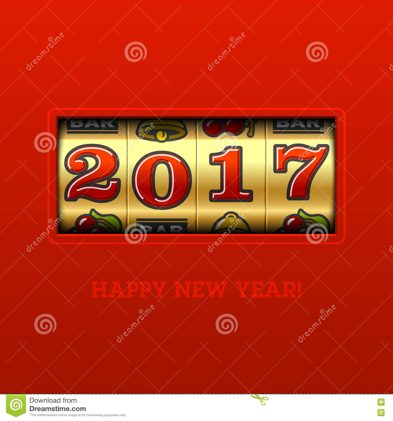 Happy New Year 2017 Greeting Card Stock IllustrationImage79421680