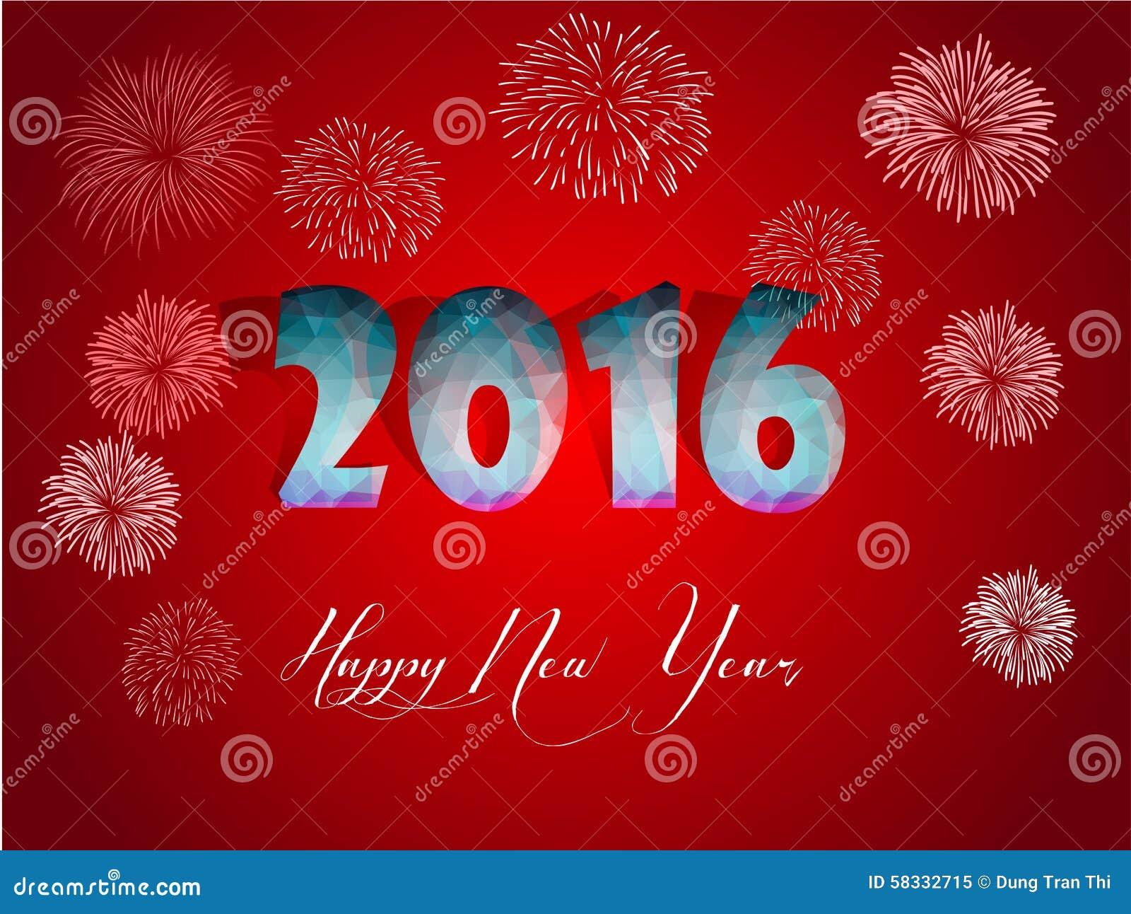 Happy new year 2016 greeting card stylized triangle polygonal happy new year 2016 greeting card stylized triangle polygonal model kristyandbryce Choice Image