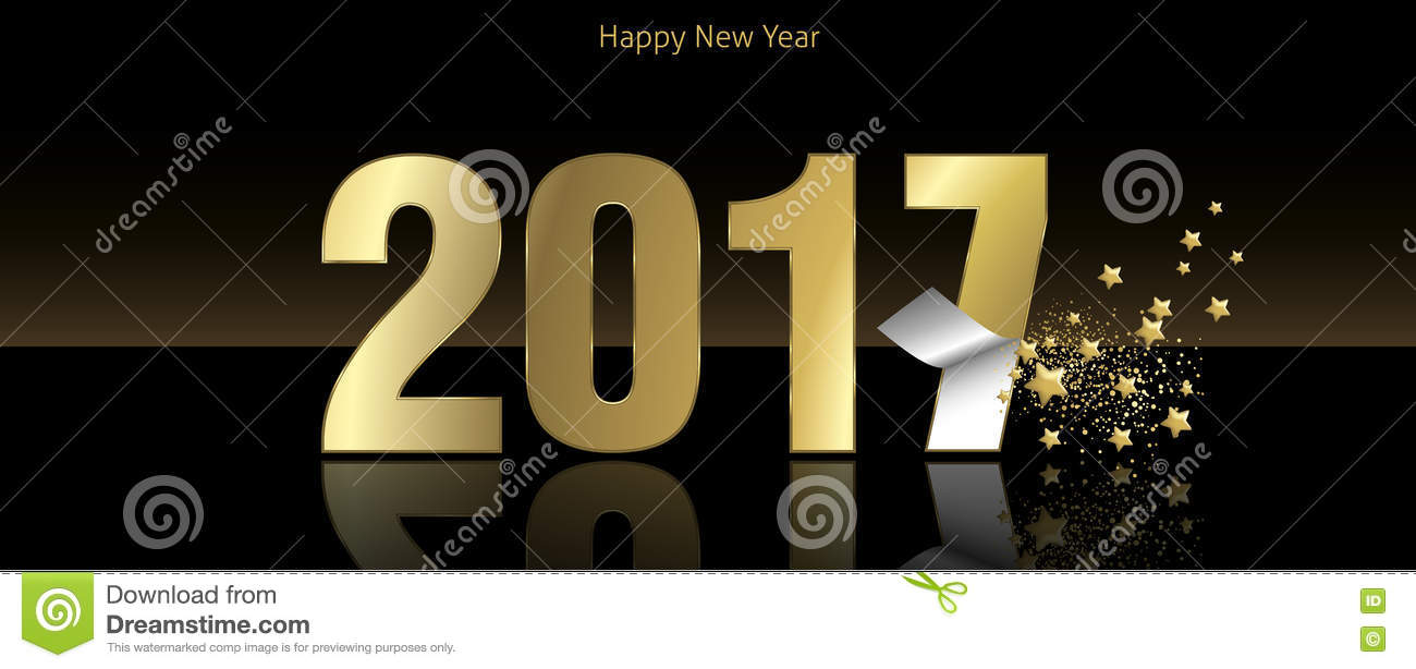 Happy New Year 2017 Stock Vector - Image: 72060163
