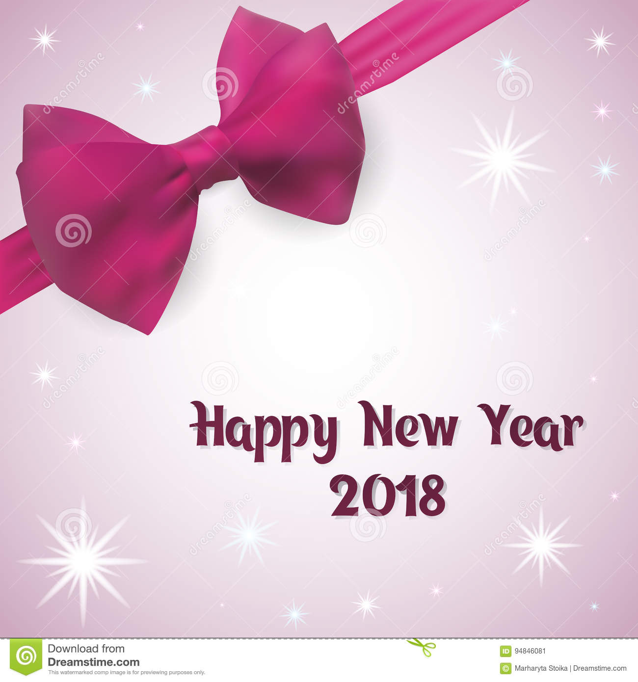 happy new year greeting card 2018 vector illustration