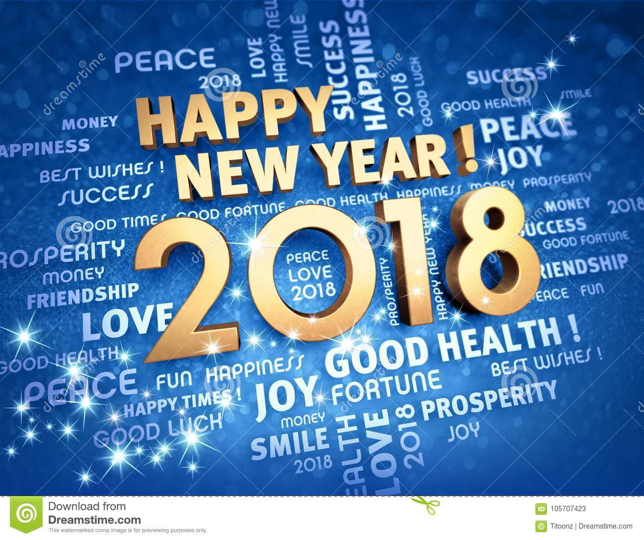 Happy new year 2018 greeting card stock illustration illustration download comp m4hsunfo