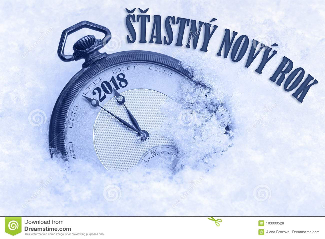 Happy New Year 2018 Greeting In Czech Language Stastny Novy Rok
