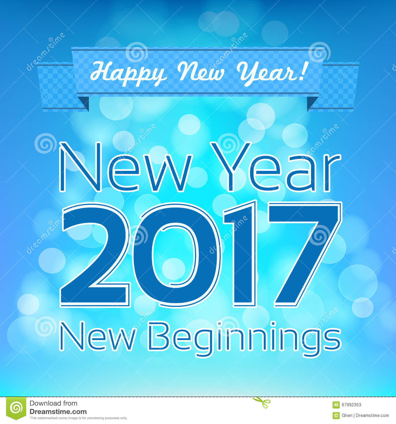 happy new year greeting vector design template new year 2017